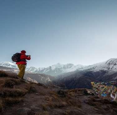 Amazing sunrise view from Mount Annapurna